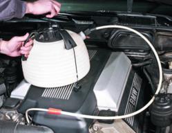 Bavarian Autosport oil change vacuum.