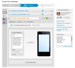 Mobilestorm for Healthcare sms compose screen