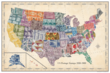 Stamp Map USA