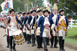 The reenactment, one of the largest recreations of a Revolutionary War battle, will bring together more than 1,000 infantry, cavalry, artillery and maritime landing reenactors from across the country at the Inn at Warner Hall, home of President George Was