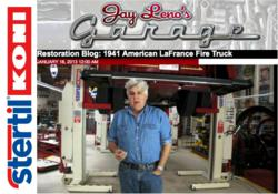 Talk show host and comedian Jay Leno shows how to repair a vintage firetruck using heavy duty vehicle lifts from the industry leader, Stertil-Koni