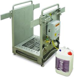 The HACCP Defender Boot Sanitizing Station from Best Sanitizers adds an additional layer of pathogen protection by reducing cross-contamination from boots before employees enter the food processing area or other critical control zones.