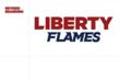 The Liberty Flames Athletics wordmark