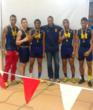 Coach Darnell Gatling, center, with Mount harriers