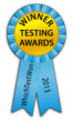 Gold ribbon: WhichTestWon 2013 Online Testing Awards