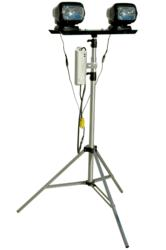 Portable Light Tower with Two Remote Control HID Spotlights
