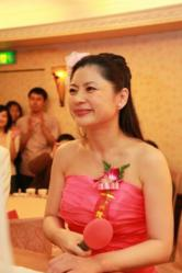 Hellen Chen at a wedding ceremony she presided over
