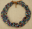 Natural Job's Tears African Multi Strand Necklace