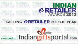E-gifting retailer of the year award 2013