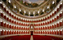Inside the teatro dell' opera in Rome