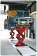 ECOLIFT capacity: 60,000 lbs. with 2-scisssor configuration and 90,000 lbs. with 3-scissor design