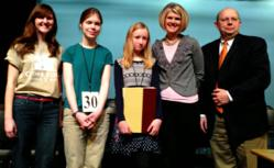 2013 Utah Valley Spelling Bee winners and sponsors
