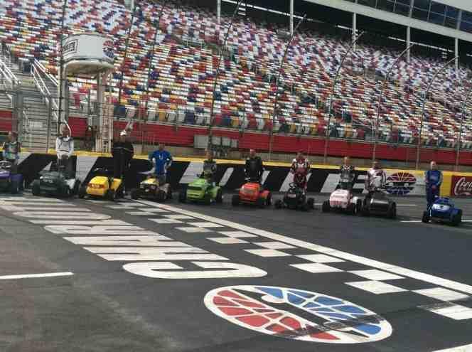 Charlotte Motor Speedway Hosts Sta Bil Lawn Mower Racing At Food Lion Autofair