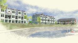 This rendering shows the future West Harbor Lofts at Heritage Harbor Ottawa.