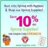 "Don't miss Hygloss Products' ""Buzz Into Spring"" sale!"