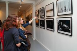Attendees at the exhibition