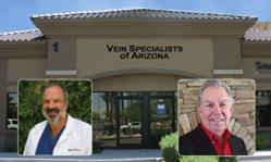 Board Certififed Cardiovascular Surgeon and Vein Specialist Jeffrey B. Alpern, D.O. with Gary L. Kersten, M.D., Board Certified Phlebologist at VSA in Phoenix