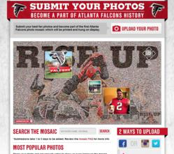 Atlanta Falcons Rise Up Photo Mosaic