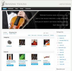 violins, violas, bows, cellos, strings, accessories, Los Angeles, Benning Violins