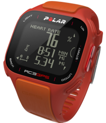 polar rc3, gps, orange