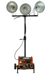 3000 Watt Portable Generator Powered Mini-Light Tower
