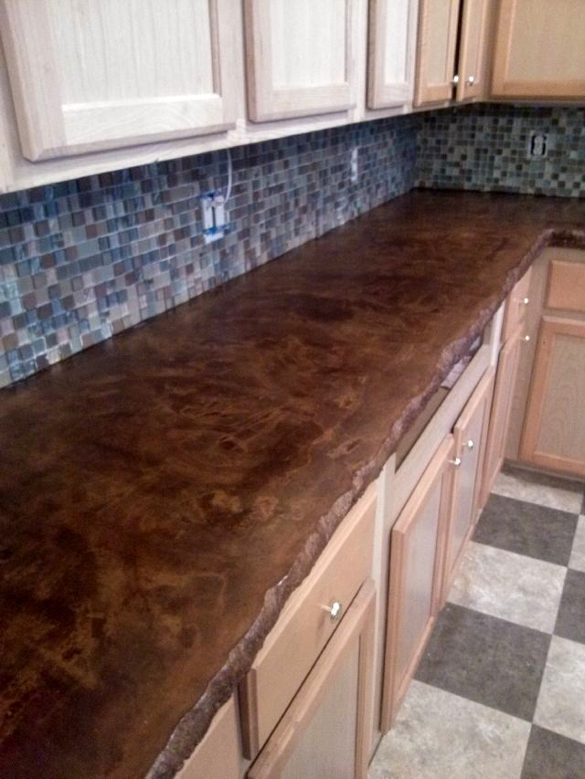 ... is also Great for Concrete Countertops Stained Concrete Countertop