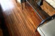 Concrete Staining with Wood Design