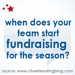 Cheerleading Blog, supported in part by cheerleading apparel company Chassé, revealed the time of year most common for cheerleading fundraising, based on votes from their readers.