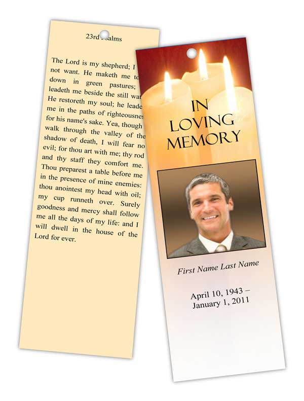 Elegant memorials redesigns website for Funeral bookmarks template free