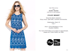 Alice + Olivia, Saks Houston, Saks, Saks Fifth Avenue, The Dolls, DJ Mia Moretti, Caitlin Moe