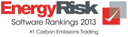 energy risk software survey ranking 2013 No. 1 Carbon Emissions Pioneer Solutions ETRM