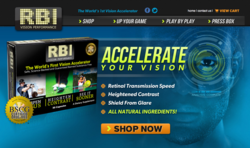 New web site launched for R.B.I. Vision Performance supplement, with astaxanthin, lutein, zeaxanthin, C3G and Saffron