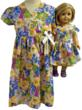Matching Girl &amp; Doll Flower Dresses
