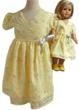 Matching Girl & Doll Yellow Easter Dresses