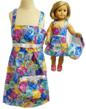 Matching Girl & Doll Dresses With Purses