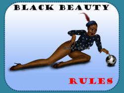 Black Pinup Girl Postcards