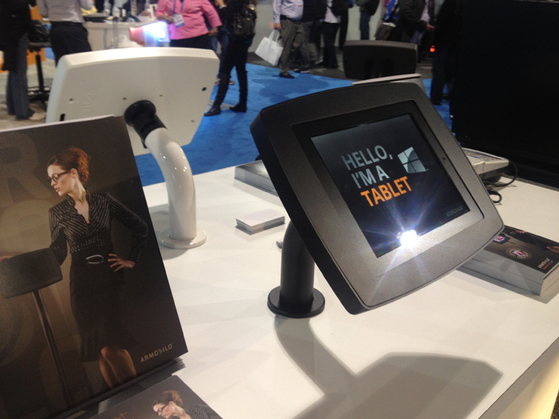 Expo Stands Kioski : Armodilo extends its tablet display stand products into