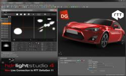 RTT DeltaGen 11 with Lightmap HDR Light Studio 4