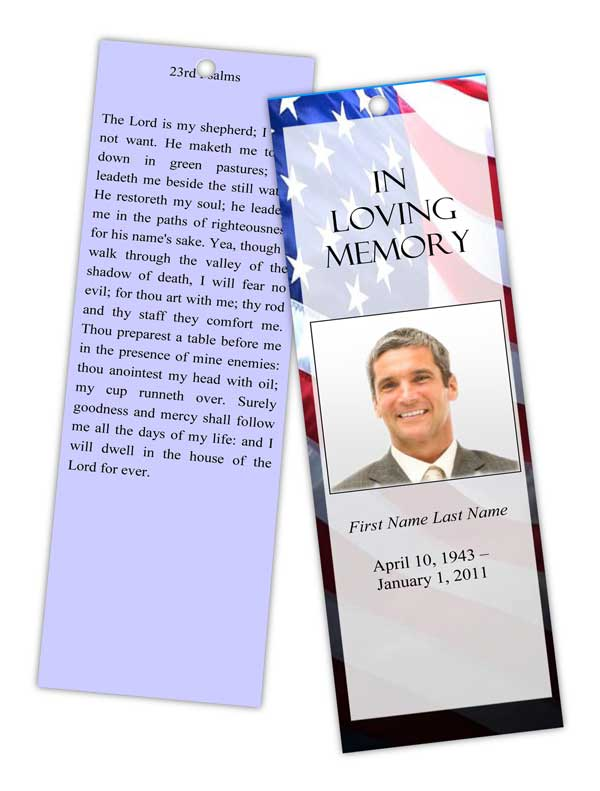 Free Printable Funeral Bookmarks | just b.CAUSE
