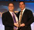 Ben Stiegler receives award from Virgo CEO John Siefert