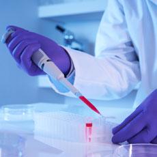 Fertility professional performing chromosomal screening
