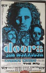 The Doors 1970 Baltimore Civic Center Vintage Concert Poster