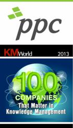 PPC again chosen for KMWorld 2013 - Top 100 Companies That Matter in Knowledge Management