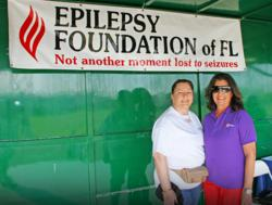 SANDY SOSA-GUERRERO, CEO OF LARKIN COMMUNITY HOSPITAL AND KAREN EGOZI, CEO OF THE EPILEPSY FOUNDATION OF FLORIDA