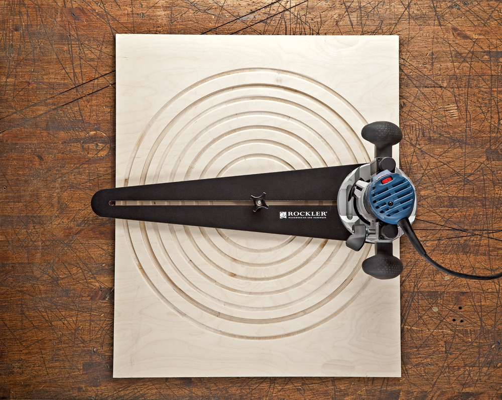 Rockler Launches Trim Router Circle Cutting Jig - New Jig Outfits Trim ...