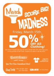 March Madness Sale at Thrift Town