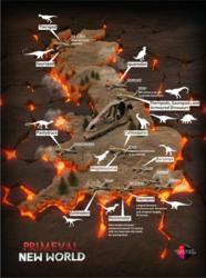 UK dinosaur map produced for Primeval New World
