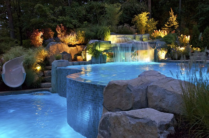 Nj company offers new pool landscaping maintenance services for Pool design new jersey