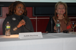 NYWICI March panel speakers left to right: Judith Harrison and Sylvia Ann Hewlett