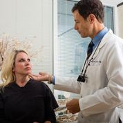Dr. Patt uses his expertise to examine faces everyday in his Houston medical practice.
